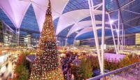 Karácsonyi vásár a münchen-i reptéren: 2 jégpályával és közel 500 igazi fenyőfával